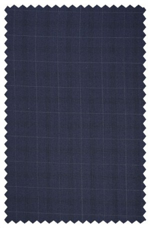 Rubin Navy Windowpane Tailored Fit Suit A00281