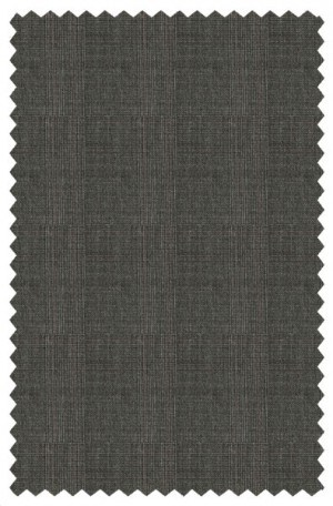 Rubin Gray-Brown Pattern Tailored Fit Suit A00742