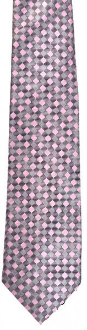 Pink/Grey Diamond tie