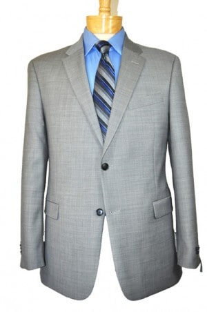 Tommy Hilfiger Silver Gray Suit