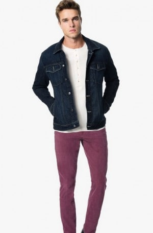 Joe's Burgundy Brixton Kinetic Jeans #AWLST68225-RE20