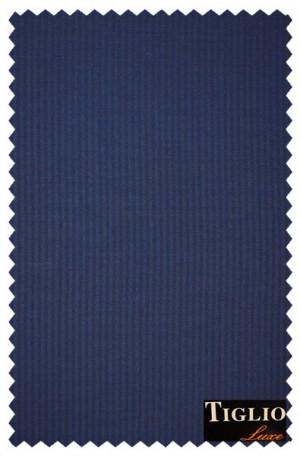Tiglio Medium Blue Tailored Fit Vested Suit #B82091-037-3