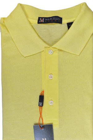 Marcello Butter Color Short Sleeve Polo #BA01-BUTTER