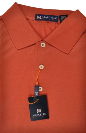 Marcello Coral Short Sleeve Polo #BA01-CORAL