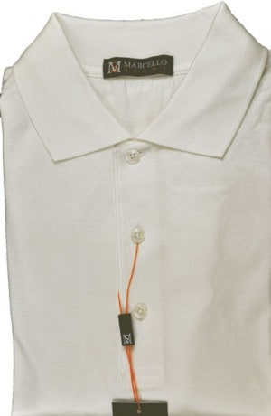 Marcello Ivory Color Short Sleeve Polo #BA01-IVORY