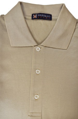 Marcello Khaki Color Short Sleeve Polo #BA01-KHAKI