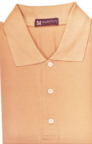 Marcello Melon Color Short Sleeve Polo #BA01-MELON.