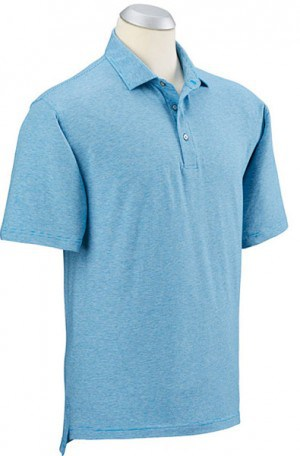 Bobby Jones Blue Stripe Cotton Stretch Polo #BJ230005-402