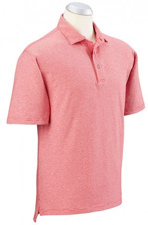Bobby Jones Pink Fine Stripe Cotton Stretch Polo #BJ230005-617
