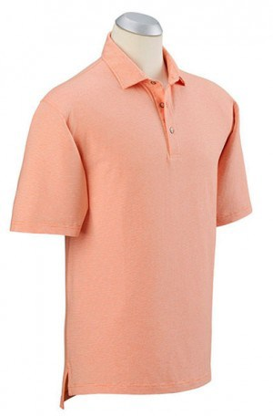 Bobby Jones Orange Fine Stripe Cotton Stretch Polo #BJ230005-805