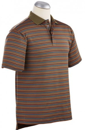Bobby Jones Green Stripe Performance Polo #BJ230248-201