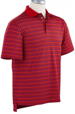 Bobby Jones Red Stripe Performance Polo #BJ230248-571