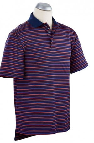 Bobby Jones Navy Stripe Performance Polo #BJ230248-993