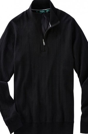 Bobby Jones Black Fully Lined 1/4 Zip Sweater #BJL47003-001