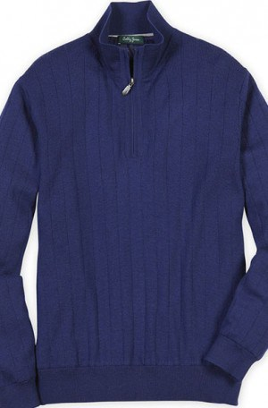 Bobby Jones Blue Fully Lined 1/4-Zip Sweater #BJL47003-993