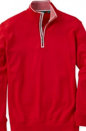 Bobby Jones Red 1/4-Zip Cotton Pullover #BJL48402-582