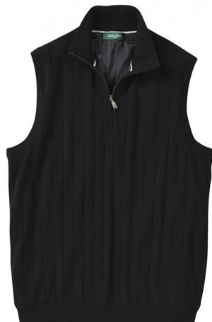 Bobby Jones Black Fully Lined 1/4 Zip Sweater Vest #BJL52002-001