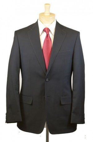 Petrocelli Black Solid Color Suit #Drake