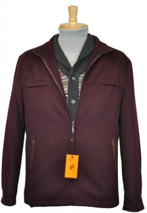 Enzo Burgundy Fall-Spring Jacket #E54878-3