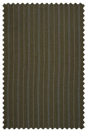 Hickey Freeman Olive Stripe Suit #F05-321027