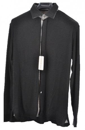 Ross Graison Black Knit Shirt-Sweater #F18-SH24-GBSP-18-905