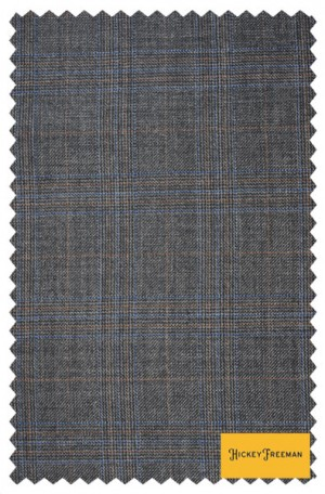 Hickey Freeman Gray Plaid Suit #F61-312007
