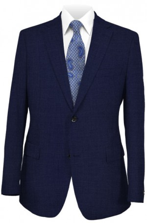Hickey Freeman Solid Navy Suit #F61-312701