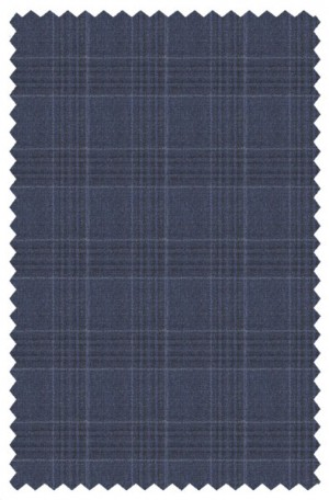 Hickey Freeman Blue Plaid Suit #F65-312135