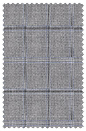 Hickey Freeman Gray Windowpane Suit F65-312509