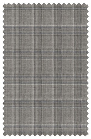 Hickey Freeman Gray Plaid Suit #F71-312103