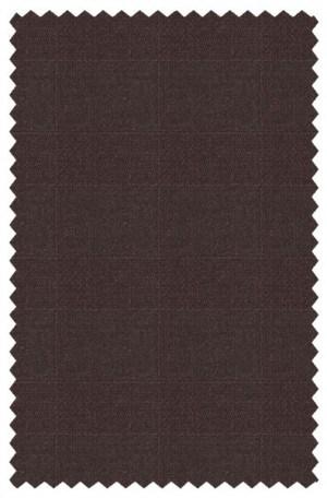 Hickey Freeman Rich Brown Pattern Suit F75-312033
