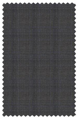 Hickey Freeman Dark Gray Windowpane Suit #F75-312035