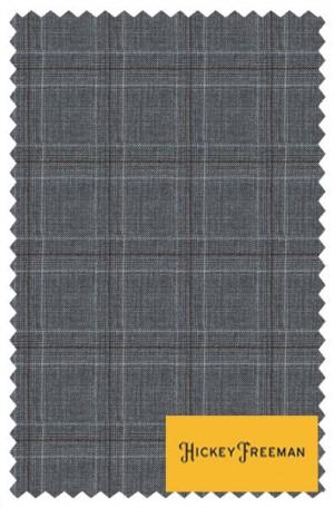 Hickey Freeman Gray Windowpane Suit #F85-312009