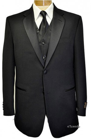 Adolfo Black Solid Color TUXEDOS F99125