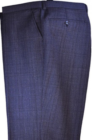 Tiglio Light Navy Pattern Tailored Fit Dress Pant #FT2467-5