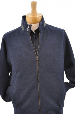 Aristo 18 Indigo Blue Full Zip Cardigan Sweater-Jacket #GAKH911059