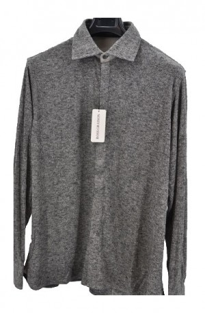 Ross Graison Gray Knit Shirt-Sweater #GBSP-18-9105-GRY