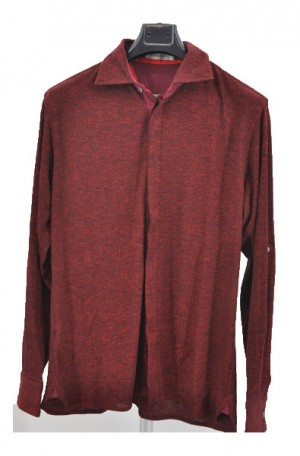 Ross Graison Reddish-Burgundy Knit Shirt-Sweater #GBSP-18-9105-RED