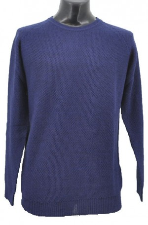 Gionfriddo Blue Lightweight Wool Blend Sweater #GK483-BLUE