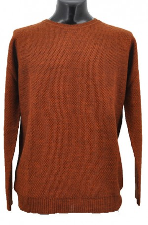 Gionfriddo Autumn Rust Color Lightweight Wool Blend Sweater #GK483-RUST