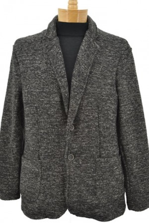 Gionfriddo Charcoal Tweed Cardigan Sweater #GK801-CHAR
