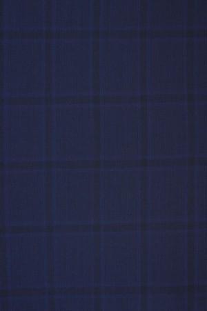 Yuste Blue Windowpane Suit #HDS177-01