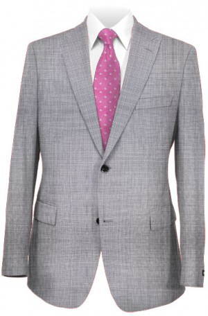 Elle Tahari Gray Micro-Check Tailored Fit Suit HDZ0010