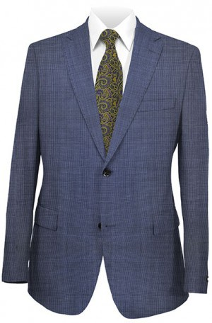 Elle Tahari Blue Micro-Check Tailored Fit Suit HDZ0012
