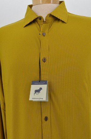 Horn Legend Yellow & Brown Tailored Fit Long Sleeve Performance Shirt #HL1029-BRN