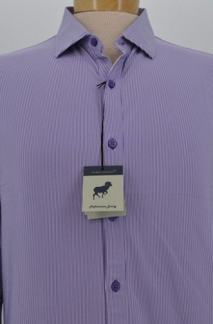 Horn Legend Lavender & Purple Tailored Fit Long Sleeve Performance Shirt #HL1029-EGG