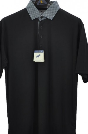 Horn Legend Black Stretch Polo #HL1096-BLK