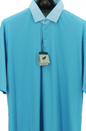 Horn Legend Turquoise Stretch Polo #HL1096-TURQ