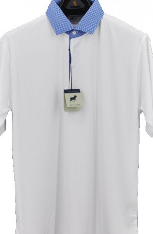 Horn Legend White Stretch Polo #HL1096-WHT