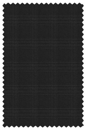 Yuste Black Windowpane Suit #IDS-166-01